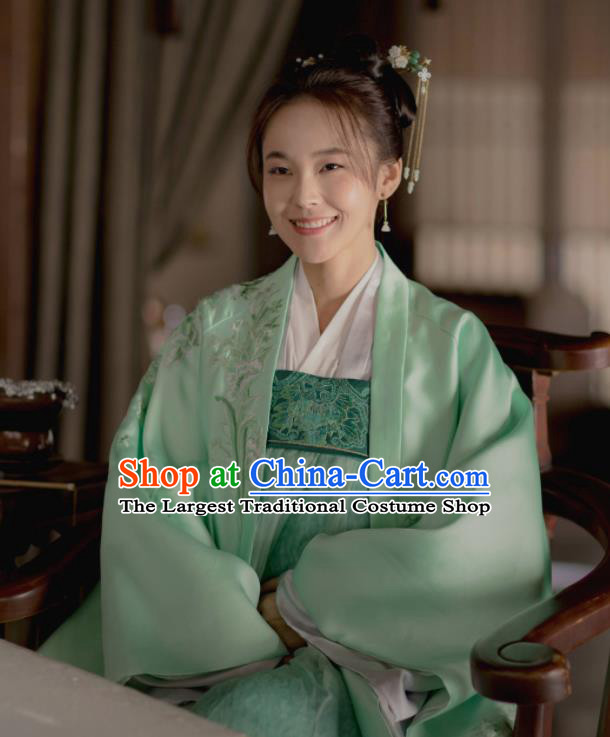 The Story Of MingLan Chinese Ancient Hanfu Dress Song Dynasty Nobility Lady Embroidered Costume for Rich Women