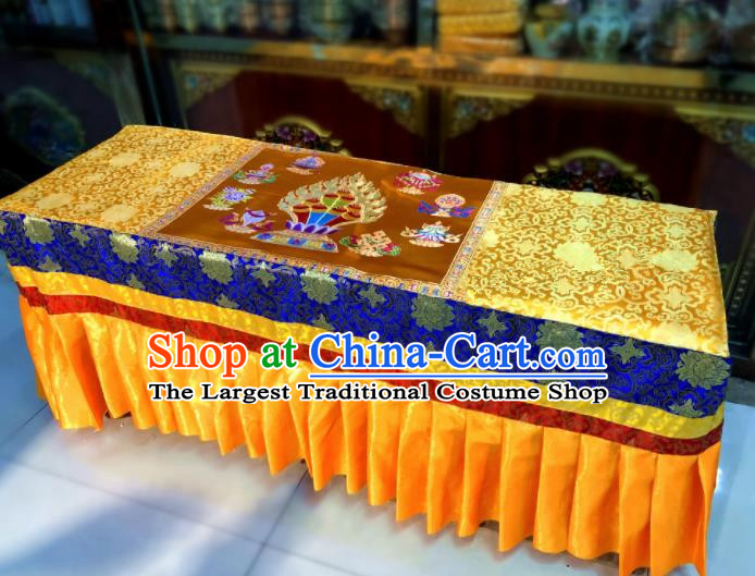 Chinese Traditional Buddhism Brocade Decoration Vajrayana Buddhist Altar Table Cloth