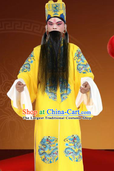 Chinese Ancient Emperor Embroidered Red Robe Traditional Peking Opera King Costume for Men