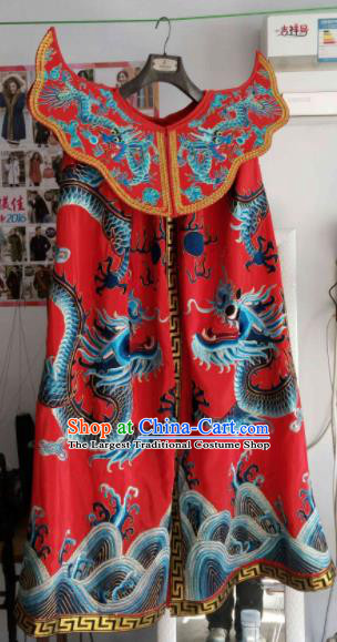 Chinese Beijing Opera Red Cape Traditional Sichuan Opera Face Changing Costume for Men