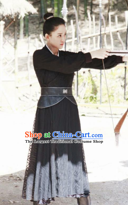 Chinese Ancient Drama Swordswoman Hanfu Dress Sui Dynasty Queen Dugu Embroidered Historical Costume for Women