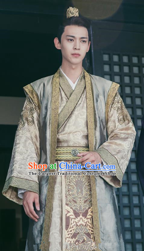 Drama Queen Dugu Chinese Ancient Sui Dynasty Crown Prince Yang Guang Historical Costume for Men