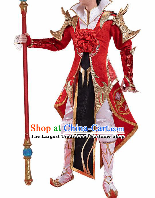 Chinese Traditional Ancient Swordsman Costume Cosplay Great Sage Equalling Heaven Clothing for Men