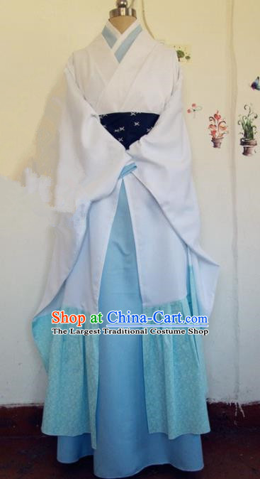 Chinese Traditional Cosplay Costume Ancient Swordsman Hanfu Clothing for Men