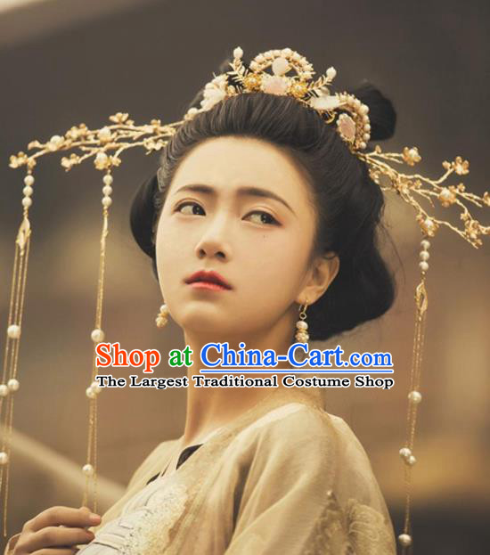 Traditional Chinese Hanfu Phoenix Coronet Hair Accessories Ancient Imperial Consort Tassel Hairpins Complete Set for Women