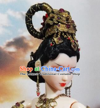 Chinese Ancient Dunhuang Flying Apsaras Hairpins Headwear Traditional Hanfu Hair Accessories for Women