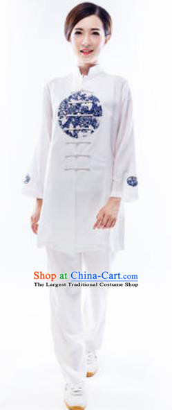Chinese Traditional Tai Chi Costume Martial Arts Uniform Kung Fu Wushu Clothing for Women