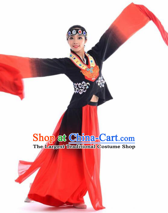 Chinese Classical Dance Beijing Opera Water Sleeve Dress Traditional Umbrella Dance Stage Performance Costume for Women