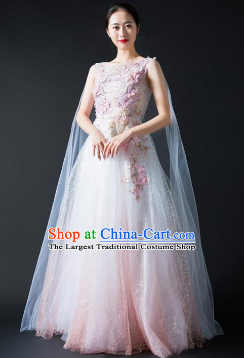 Chinese Modern Dance Stage Costume Traditional Spring Festival Gala Opening Dance Veil Dress for Women