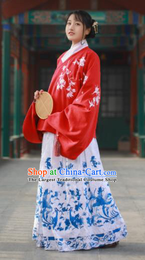 Traditional Chinese Ming Dynasty Court Lady Historical Costume Ancient Princess Hanfu Dress for Women