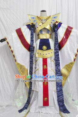 Traditional Chinese Cosplay Swordsman Hanfu Clothing Ancient Royal Highness Embroidered Costume for Men