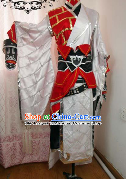 Traditional Chinese Cosplay Monk Clothing Ancient Swordsman Embroidered Costume for Men