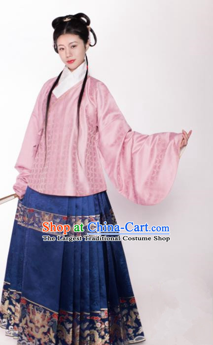 Chinese Ancient Nobility Lady Hanfu Dress Traditional Ming Dynasty Court Embroidered Historical Costume for Women