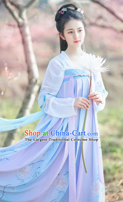 Chinese Ancient Palace Lady Hanfu Dress Traditional Tang Dynasty Princess Historical Costume for Women