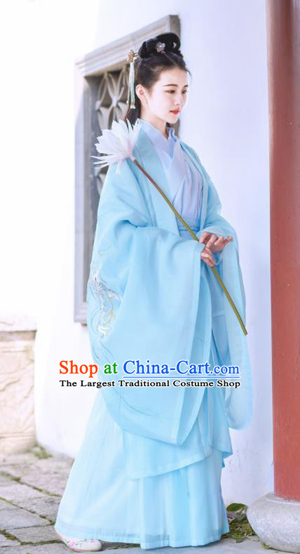 Chinese Han Dynasty Nobility Lady Embroidered Hanfu Dress Traditional Ancient Court Princess Historical Costume for Women