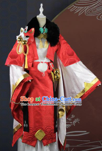 Chinese Traditional Cosplay Emperor Red Costume Ancient Swordsman Hanfu Clothing for Men
