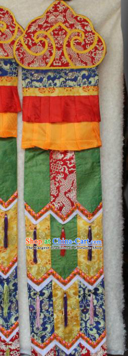 Chinese Traditional Buddhist Brocade Streamer Tibetan Buddhism Temple Decoration
