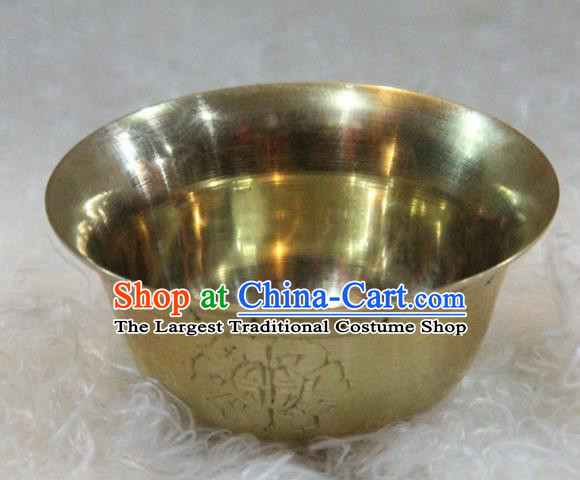 Chinese Traditional Buddhism Copper Bowl Feng Shui Items Vajrayana Buddhist Decoration
