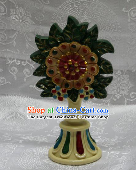 Chinese Traditional Buddhism Butter Sculpture Feng Shui Items Vajrayana Buddhist Decoration