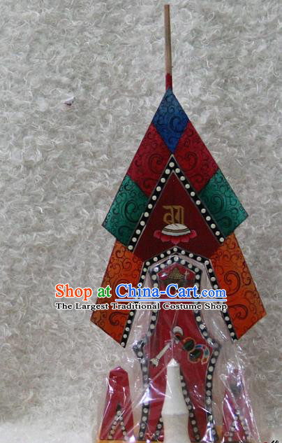 Chinese Traditional Tibetan Buddhism Feng Shui Items Wood Decoration Buddhist Temple Colored Drawing Offerings