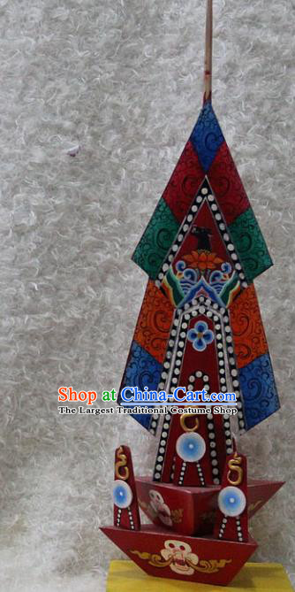 Chinese Traditional Buddhist Temple Colored Drawing Offerings Tibetan Buddhism Feng Shui Items Wood Decoration