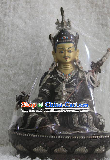 Chinese Traditional Buddhist Copper Buddha Statue Tibetan Buddhism Feng Shui Items Sculpture