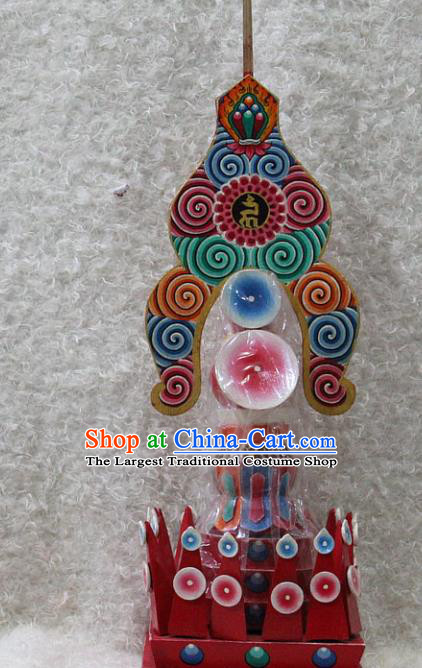 Chinese Traditional Tibetan Buddhism Feng Shui Items Wood Decoration Buddhist Colored Drawing Offerings