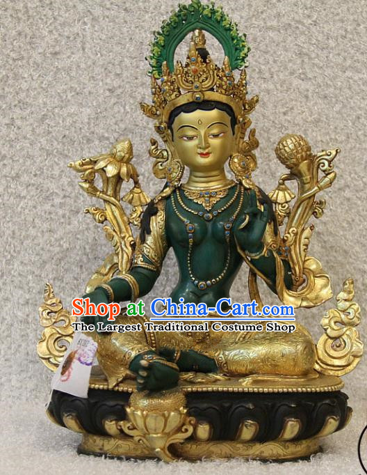 Chinese Traditional Buddhist Statue Buddha Brass Sculpture Decoration Tibetan Buddhism Feng Shui Items