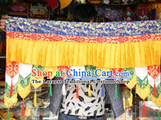 Chinese Traditional Buddhist Temple Brocade Purdah Curtain Tibetan Buddhism Portiere Decoration