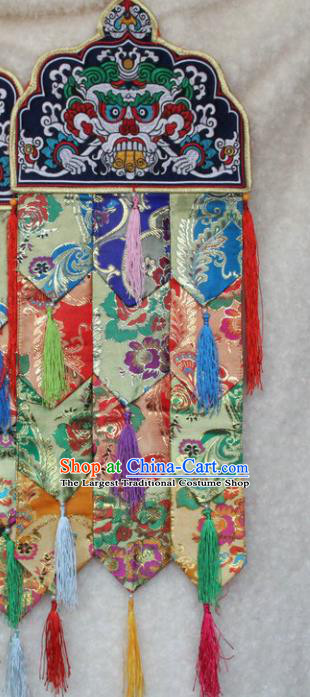 Chinese Traditional Buddhist Temple Brocade Curtain Tibetan Buddhism Portiere Decoration