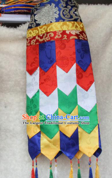 Chinese Traditional Buddhist Temple Brocade Streamer Curtain Tibetan Buddhism Portiere Decoration