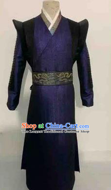 Chinese Ancient Swordsman Hanfu Dress Traditional Knight Assassin Historical Costume for Men