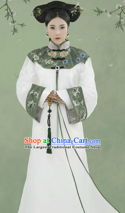 Chinese Ancient Manchu Lady Hanfu Dress Qing Dynasty Imperial Consort Historical Costume for Women