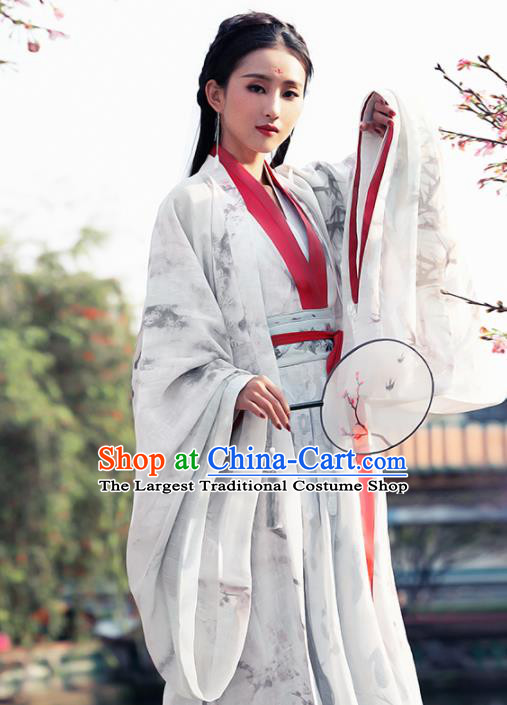 Ancient Chinese Court Princess Historical Costume Traditional Jin Dynasty Palace Lady Hanfu Dress for Women