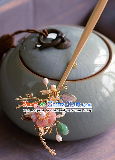 Traditional Chinese Ancient Palace Dragonfly Hair Clip Hairpins Handmade Wedding Hair Accessories for Women