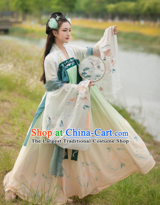 Chinese Tang Dynasty Palace Historical Costume Traditional Ancient Court Princess Hanfu Dress for Women