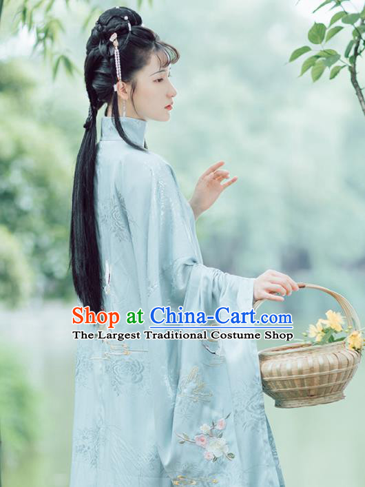 Chinese Ancient Drama Nobility Lady Lin Daiyu Hanfu Dress Traditional Dream of the Red Chamber Ming Dynasty Historical Costume for Women