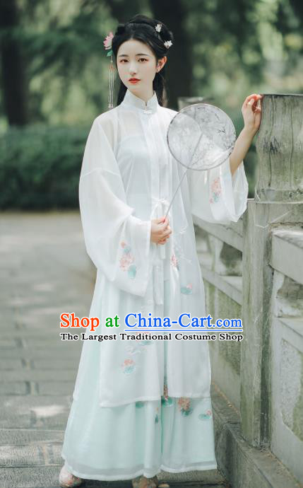 Ancient Chinese Ming Dynasty Nobility Lady Hanfu Dress Traditional Palace Embroidered Historical Costume for Women