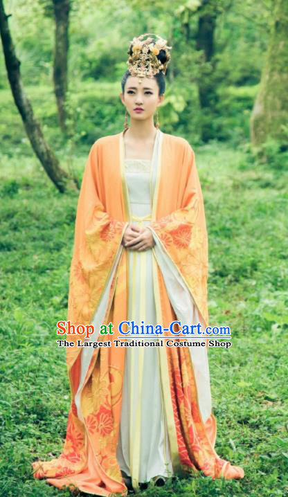 Drama Hoshin Engi Chinese Ancient Shang Dynasty Imperial Consort Su Daji Historical Costume and Headpiece for Women