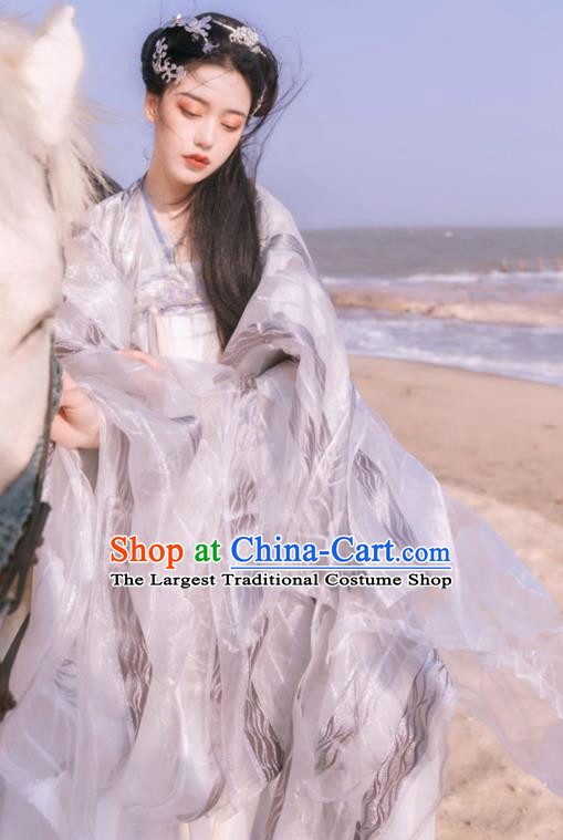 Asian Chinese Tang Dynasty Princess Historical Costume Ancient Court Traditional Hanfu Dress for Women