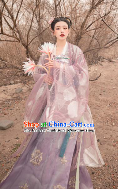 Asian Chinese Tang Dynasty Palace Princess Historical Costume Ancient Court Consort Traditional Hanfu Dress for Women