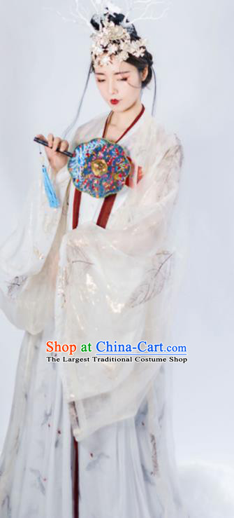 Chinese Tang Dynasty Historical Costume Ancient Imperial Consort Traditional Hanfu Dress for Women