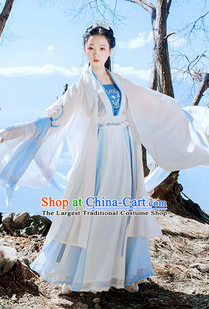Traditional Chinese Ancient Embroidered Historical Costume Ming Dynasty Court Princess Hanfu Dress for Women