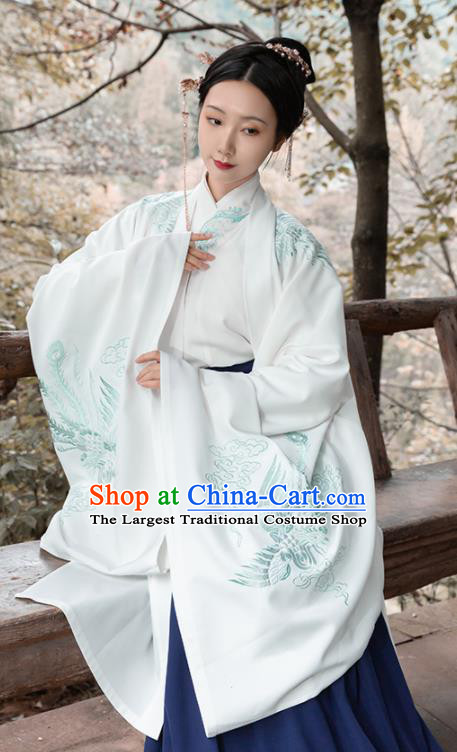 Asian Chinese Ancient Dowager Embroidered Hanfu Dress Traditional Ming Dynasty Nobility Lady Historical Costume for Women