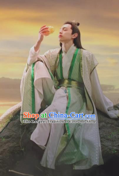 Chinese Ancient Shang Dynasty Nobility Childe Clothing Drama The Legend of Deification Zi Xu Costume for Men