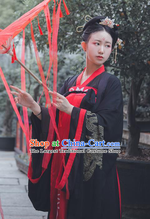 Asian Chinese Tang Dynasty Princess Replica Costume Traditional Ancient Peri Dance Hanfu Dress for Women