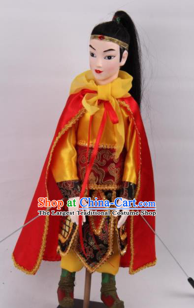 Traditional Chinese Handmade General Yue Fei Puppet Marionette Puppets String Puppet Wooden Image Arts Collectibles