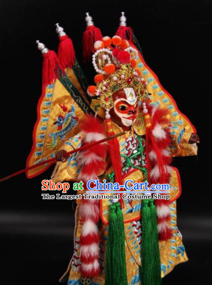 Traditional Chinese Monkey King Sun Wukong Marionette Puppets Handmade Puppet String Puppet Wooden Image Arts Collectibles