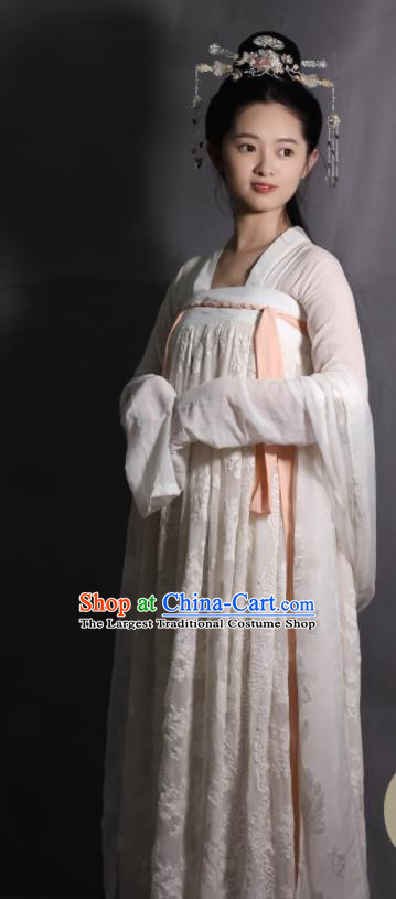 Chinese Traditional Tang Dynasty Infanta Hanfu Dress Ancient Court Princess Replica Costumes for Women