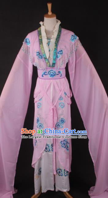 Professional Chinese Beijing Opera Palace Princess Pink Dress Ancient Traditional Peking Opera Diva Costume for Women